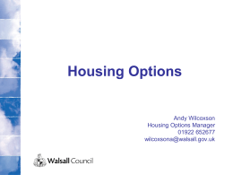 Housing Options in Walsall (PPT 262KB)