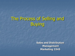 The Process of Selling and Buying