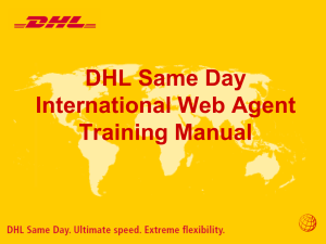 DHLSD International Web Agent Training Manual