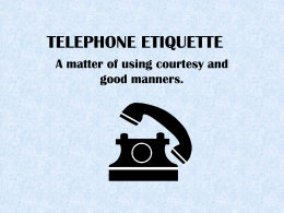 Telephone Etiquette PowerPoint