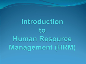 Day 3 Session 1 Introduction to Human Resource Management