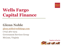 Wells Fargo Capital Finance Who We Are