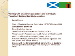 the role of Scotland-Zambia Association