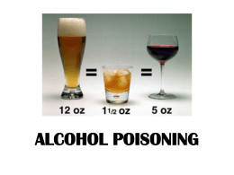 Alcohol Poisoning (PowerPoint)