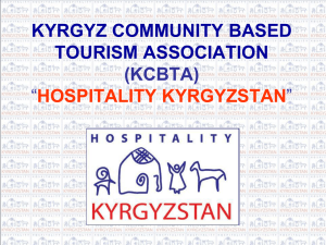 KYRGYZ COMMUNITY BASED TOURISM ASSOCIATION (KCBTA