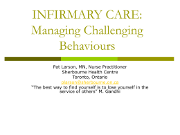 Managing Challenging Behaviours - National Health Care for the
