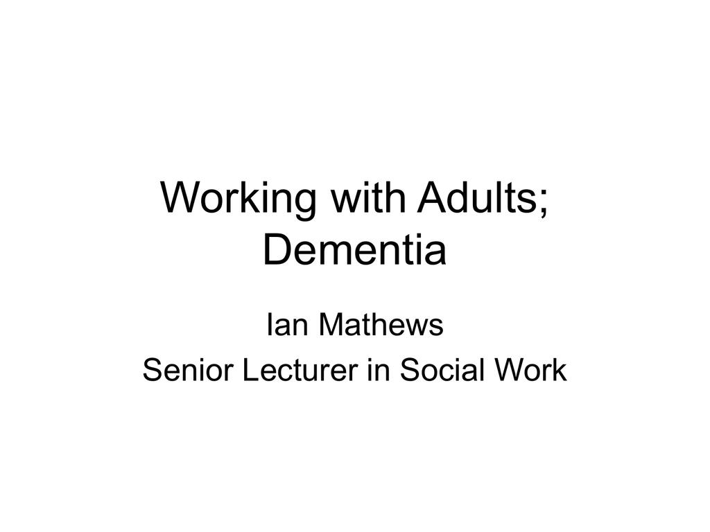 Adult Community Care