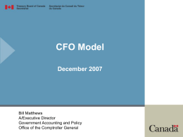 Bill Matthews - Financial Management Institute of Canada