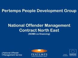 Pertemps People Development Group, NOMS Contract