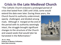 Papal attempts to gain power in the Late Middle Ages (Under