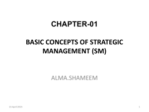 basic concepts of strategic management (sm)