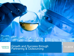 Habib Nasirullah TEVA - Growth and Success throught Outsourcing