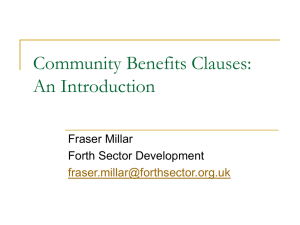 Community Benefit Clauses - Employability in Scotland