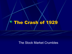 The Crash of 1929 PPT