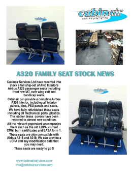 A320 FAMILY SEAT STOCK NEWS