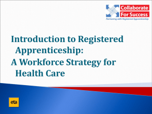 Introduction to Registered Apprenticeship