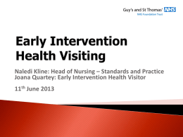 Early Intervention Health Visiting