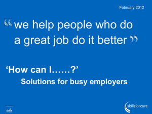 `How can I ?` Solutions for busy employers
