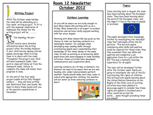 Room 12 Newsletter October 2012
