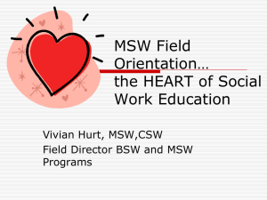 MSW Field Orientation powerpoint