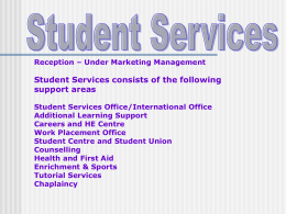 Student Services - Student Intranet | Brooklands College