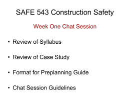 SAFE 443/543 Construction Safety