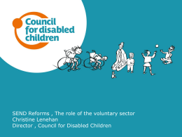 SEND reforms, the role of the voluntary sector