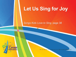 Let Us Sing for Joy - Concordia Publishing House