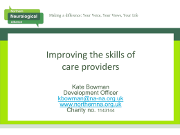 Improving the skills of domiciliary care providers