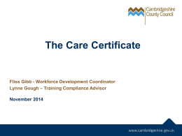 The 15 Care Certificate Standards