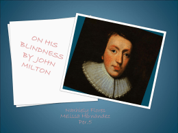 On His Blindness By John Milton