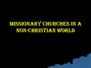 Missionary Churches in a Non