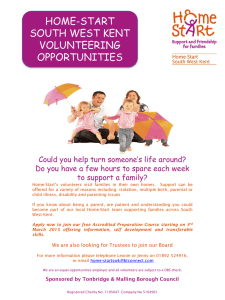 Home-Start Volunteers Prep Course Advert March 2015