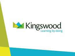 Kingswood Dearne Valley Presentation
