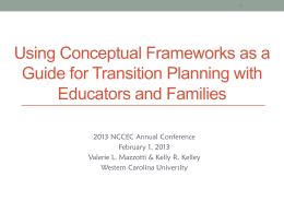 Transition Assessment and Planning