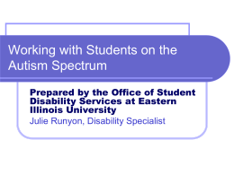 Working with Students on the Autism Spectrum