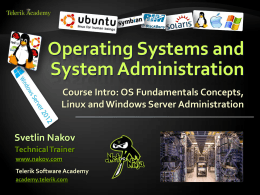 Operating Systems - Course Intro