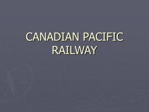 Canadian Pacific Railway powerpoint