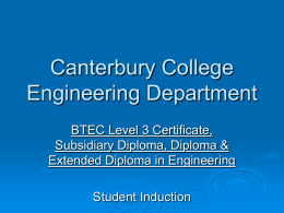 Nat-Dip-Student-Induction - Engineering at Canterbury College