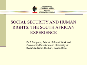 Social security and human rights - Socialwork