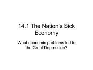 14.1 The Nation`s Sick Economy