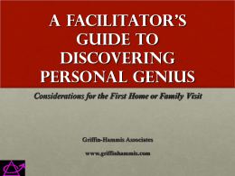 A Facilitator`s Guide to Discovering Personal Genius