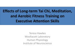 Effects of Tai Chi, Meditation and Aerobic Walking Training on