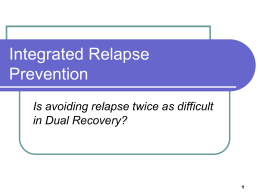link to Integrated Relapse Prevention