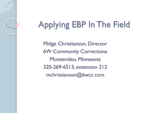 Applying EBP In The Field