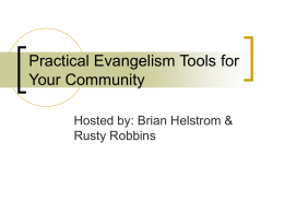 Practical Evangelism Tools for Your Community