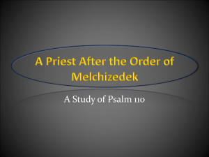 A Priest After the Order of Melchizedek