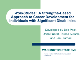 WorkStrides: A Strengths-Based Approach to Career Development