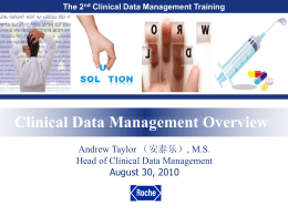 Principles of Clinical Data Management