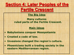 Later Peoples of the Fertile Crescent